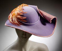 Lady's hat | Stephen Jones (1957-) | Great Britain 1982 | Velvet, silk, lace and feathers | VA Museum, London