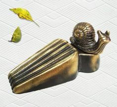 Brass Decorative Snail Door Stopper by Taiwan. $45.99