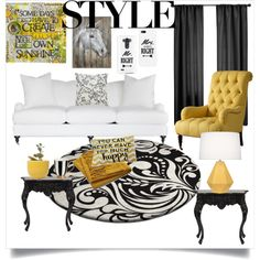 Style is Your own. by chanlee-luv on Polyvore featuring polyvore interior interiors interior design home home decor interior decorating Howard Elliott Robert Abbey DwellStudio Crate and Barrel Dot & Bo Softline Home Fashions