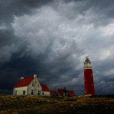 Eierland Lighthouse, Texel - Netherlands Beacon Of Light, Water Tower, World Best Photos, Adventure Awaits, Beautiful Islands, Windmill, Netherlands, Around The Worlds, Clouds