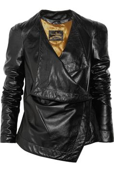 Vivienne Westwood. Dream leather jacket. Love asymmetrical anything.