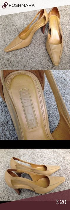 "Classy women's shoes made in Brazil This is a must have edition to your shoe collection! Unisa leather upper  (Size 7) Heel: 3.5""; Color: Tan; These shoes are used, but in excellent condition. No holds, no trades, no modeling please! Unisa Shoes Heels"