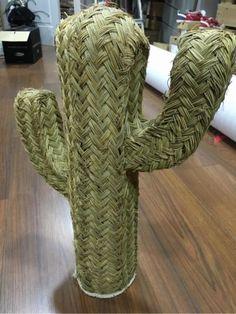 Cactus de esparto precioso! Vintage