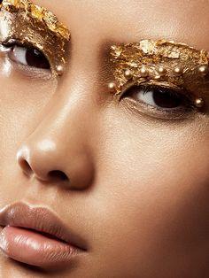 Beautiful tight Makeup Beauty closeup crop