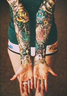 birds, flowers, stars sleeves