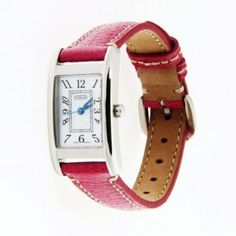 Coach women's watch Lexington Collection pink strap silver case 14501076 Coach. $199.99. Made By Movado. Swiss Quartz