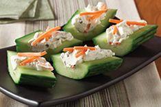 Cream Cheese 'n Herb Cucumber Bites Recipe - Healthy Living Kraft Recipes Kraft Foods, Kraft Recipes, Healthy Snacks, Healthy Eating, Healthy Recipes, Cucumber Bites, Cucumber Recipes, Snacks Saludables, Appetizer Recipes