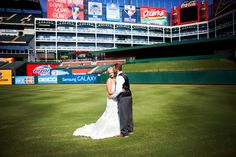 Paola LaRue Photo| Texas Rangers ballpark weddin'.  http://paolalaruephoto.wordpress.com/