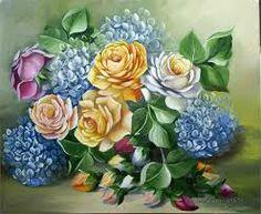 arte pintura de flores