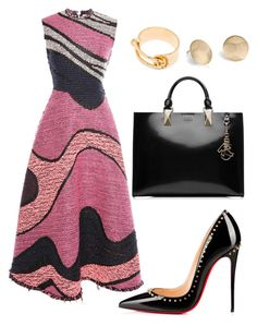 """Helia's style theory"" by heliaamado on Polyvore featuring Roksanda, Christian Louboutin, Karl Lagerfeld, Balenciaga and Blue Nile"
