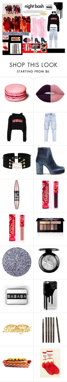 """CLC hobgoblin inspired set"" by bricks6897 ❤ liked on Polyvore featuring Louis Vuitton, Lime Crime, MSGM, Carvela, Maybelline, Smashbox, Casetify, Etude House, black and Dark"