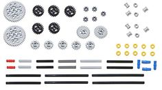 Toy Interlocking Gear Sets - LEGO 61pc Technic gear  axle SET 2 *** You can get more details by clicking on the image.