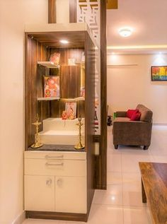 Wardrobe Design for Small Bedroom Indian Luxury 20 Mandir Designs for Indian Homes Our Best Picks & why Living Room Partition Design, Pooja Room Door Design, Room Partition Designs, Home Room Design, Home Interior Design, House Design, Kitchen Design, Gate Design, Interior Ideas