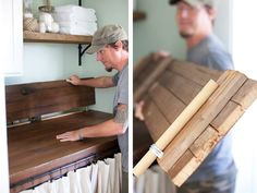 Wood Door Turned Countertop for Laundry Room | Makeover | The Lettered Cottage