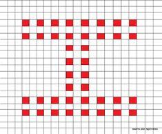 Swirls and Sprinkles: Free crochet letter I block/square pattern