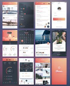 Phoenix UI- Vol 1 - for iPhone 6 : Free PSD