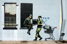 Awesome Banksy Graffiti Drawing