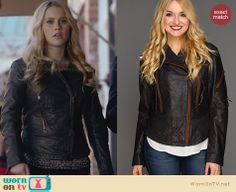 Rebekah's leather jacket on The Originals. Outfit Details: http://wornontv.net/26741 #TheOriginals #fashion