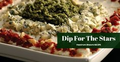 This colourful layered dip will WOW anyone who sees it. Serve it with chips, veggies or whatever else you like to dip.
