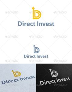 Direct Invest - Logo Design Template Vector #logotype Download it here: http://graphicriver.net/item/direct-invest-logo-template/2612852?s_rank=1502?ref=nesto