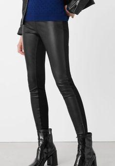 Colanti piele ecologica dama negri cu insertii bumbac Leather Pants, Fashion, Templates, Leather Jogger Pants, Moda, Fashion Styles, Lederhosen, Leather Leggings, Fashion Illustrations