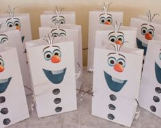 Frozen's Olaf Favor Bags and Snocone Cups Printables