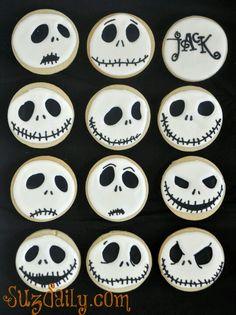 jack skellington faces cookies