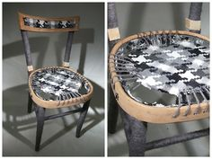 This girl redoes old chairs in amazing ways