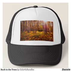 Buck in the Trees Trucker Hat - Urban Hunter Fisher Farmer Redneck Hats By Talented Fashion And Graphic Designers - #hats #truckerhat #mensfashion #apparel #shopping #bargain #sale #outfit #stylish #cool #graphicdesign #trendy #fashion #design #fashiondesign #designer #fashiondesigner #style