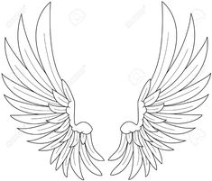 Wings Royalty Free Cliparts, Vectors, And Stock Illustration . Surf Tattoos, Boy Tattoos, Ange Anime, Eagle Wing Tattoos, Angel Wings Drawing, Matching Best Friend Tattoos, Eagle Drawing, Wing Tattoo Designs, Eagle Wings