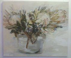 Organic matter Pascale Chandler Simple Canvas Paintings, Art Paintings, Protea Art, South African Artists, Organic Matter, Different Flowers, Art Google, Artist At Work, Love Art