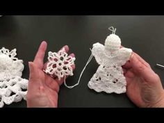 Halo voor engel haken. Variatie nr 1. Meehaaktutorial van 10 minuutjes. - YouTube Crochet Angel Pattern, Crochet Angels, Crochet Doily Patterns, Crochet Doilies, Christmas Decorations, Christmas Ornaments, Freeform Crochet, Christmas Angels, Halo
