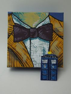 Doctor Who hand painted Eleventh Doctor gift box by allonsyalonso7, $10.00