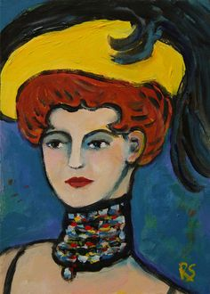 Paris 1901 -  Original Portrait Painting Inspired by Picasso, by Roberta Schmidt  - ArtcyLucy on Etsy