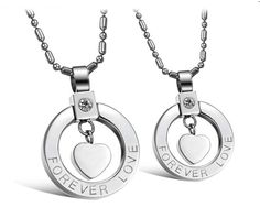 "Collier couple ""forever love"""