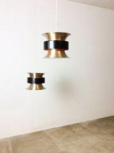 vintage 60s danish modern pendant light CARL THORE by yourhomeplus