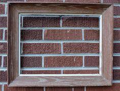 MODERNIST Mid-Century REDDISH Brown White Washed OAK Frame 12 x  16 c1950s #MidCenturyModern #unknown