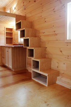 Another choice of stairs that are useful for storage