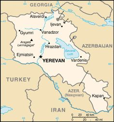 Armenia  officially the Republic of Armenia, is a mountainous country in the South Caucasus region of Eurasia. Yerevan is capital