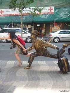 Sculpture in Barcelona, Spain #sculpture #barcelona #spain