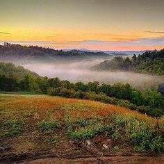 Check out this morning's beautiful #sunrise near Richlands, #Virginia. Love this shot!