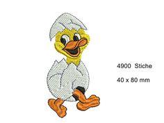Stickdatei Entenkücken Artikelbeschreibung: Stickdatei = Digitale Stickmotive/Stickmuster für Stickmaschinen, bzw. Haushaltnähmaschinen mit