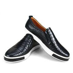 Fashion Genuine Alligator Leather Shoes