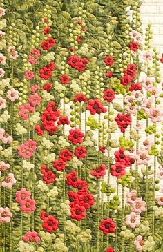 holly hock wall quilt