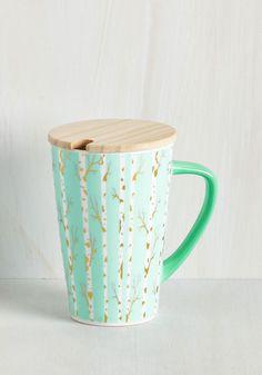 Steep of Faith Mug in Birch Tree. Take a chance on this ceramic mug! #mint #modcloth