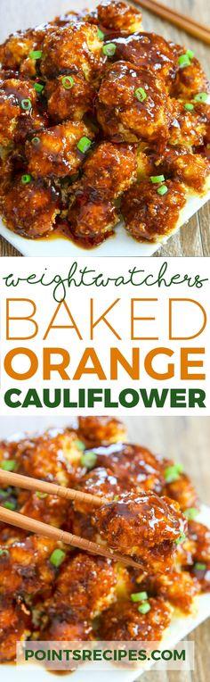 BAKED ORANGE CAULIFLOWER (WEIGHT WATCHERS SMARTPOINTS) #weightloss