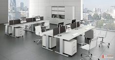 KEA Büromöbel, KEA Schreibtisch, KEA Büroeinrichtungen Kea Schreibtisch Kea Doppelarbeitsplatz mit Schreibtischplatte Melamin weiß Kea Rollcontainer mit Schubladen und Zentralverschluss. Kea Büroschrank mit 5 Ordnerhöhen und Flügeltüren mit Schloss