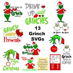 free grinch face svg files for cricut - Yahoo Image Search Results Grinch Party, Grinch Christmas Party, Merry Christmas, Christmas Shirts, Christmas Vinyl, Christmas Sayings And Quotes, Christmas Movie Quotes, Christmas Fonts, Christmas Pajamas