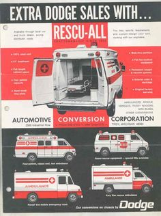 Dodge B-Van Ambulances