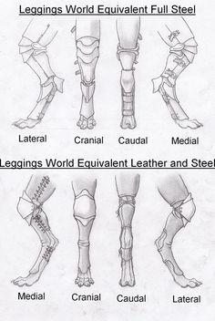 Digitigrade Leg Armor Concepts by RussellTuller